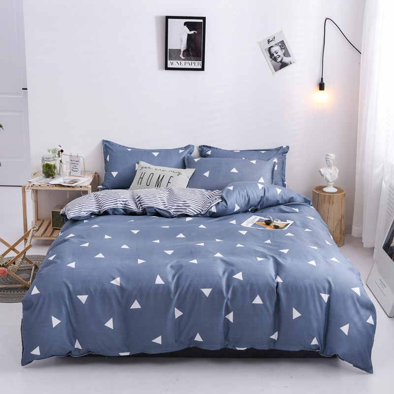 دائم 2 وسادة شمس ، 1 غطاء لحاف و 1 غطاء سرير الملكة ، الملك ، التوأم ، كامل الحجم ، طقم سرير 4 في 1