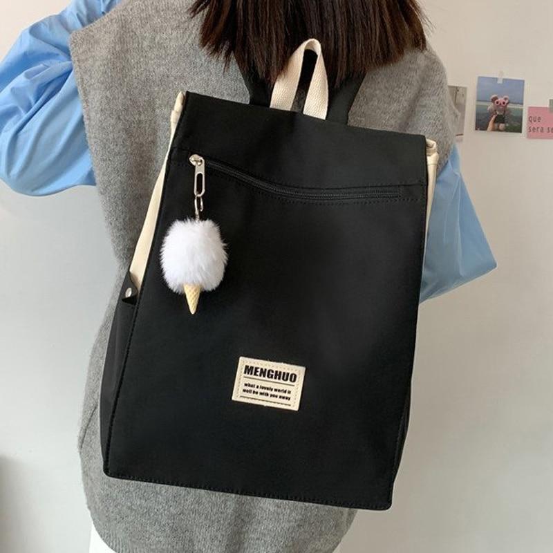 EnoPella Kawaii Водонепроницаемый женский рюкзак для путешествий рюкзак для девочек школьная сумка модный нейлоновый рюкзак женский рюкзак для к...