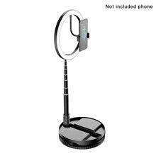 Anillo giratorio Flexible con soporte para ordenador portátil, PC regulable con alimentación por USB y transmisión en vivo, anillo portátil, maquillaje ligero y peso ajustable