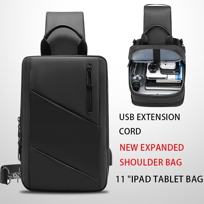 EURCOOLCrossbody حقيبة الرجال USB شحن الصدر حزمة السفر طارد المياه حقائب اليد حقيبة كتف عادية المحافظ Sacos De Ombro 2003