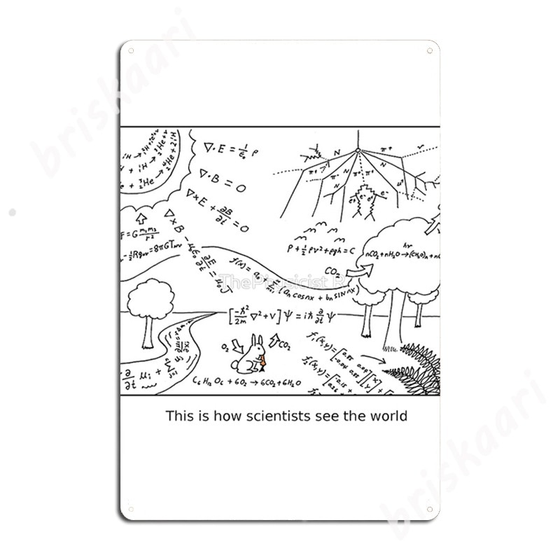 How Scientists See The World [Light] Metal Signs Cinema Living Room Kitchen Retro Painting Décor Tin sign Posters