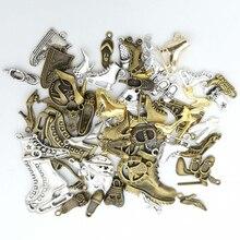50g 100g chaussures bottes talons hauts charmes mixtes pendentif Bracelets colliers accessoires pour artisanat fabrication de bijoux composants bricolage