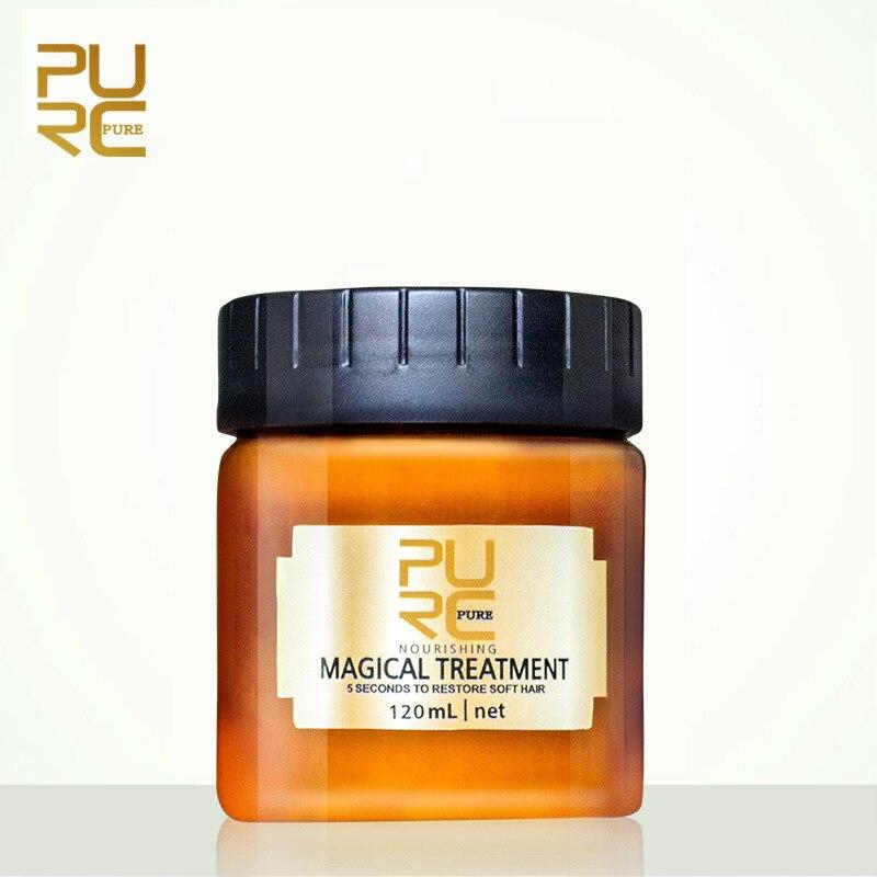 Purc efetivamente mágico queratina máscara de tratamento do cabelo reparação danificado cabelo seco 5 segundos nutrir & restaurar o cabelo macio tslm1