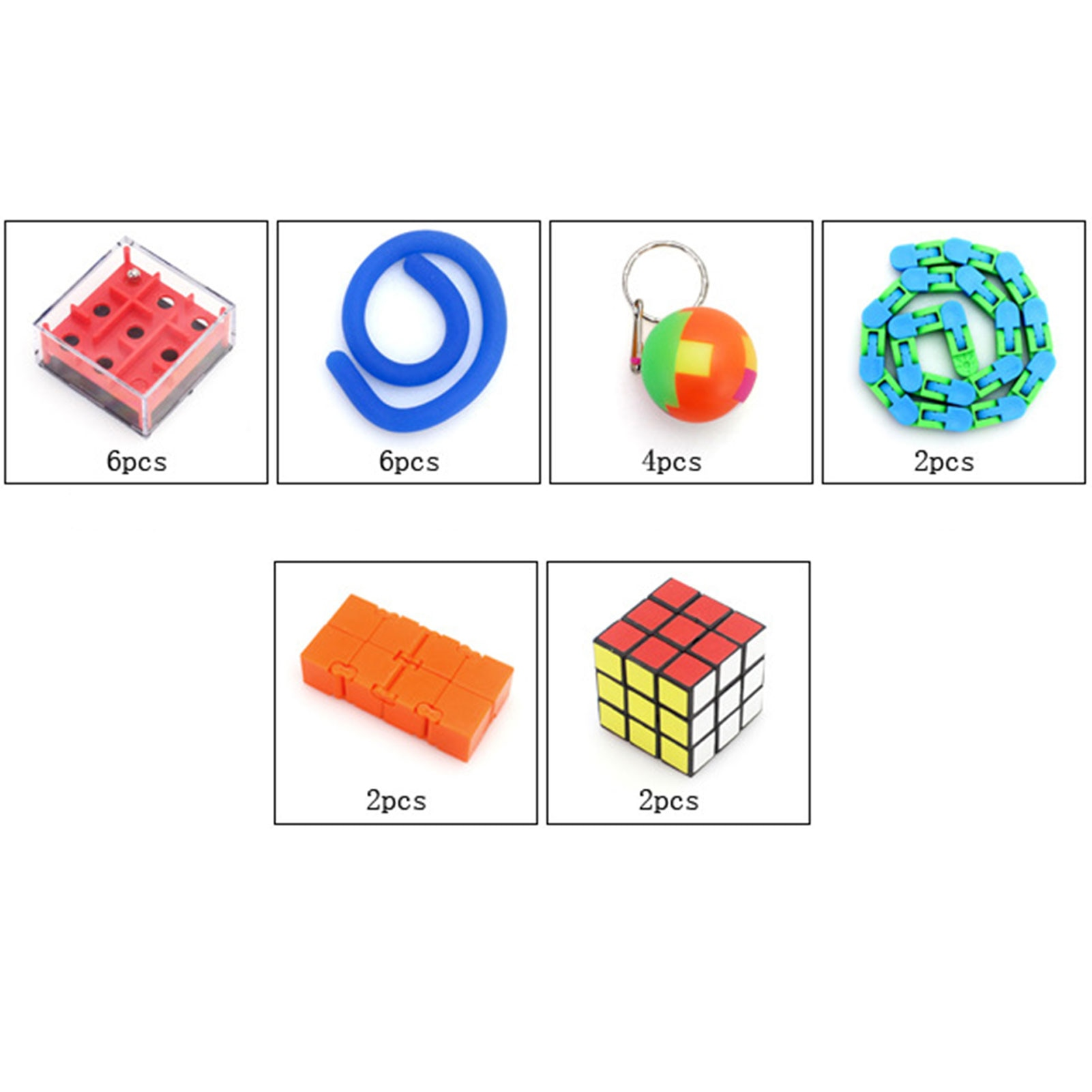 24 IN 1 Fidget Sensory Toys Set Party Favors Fidget Hand Toys For Kids Adults Simple Dimple Fidget Toy enlarge