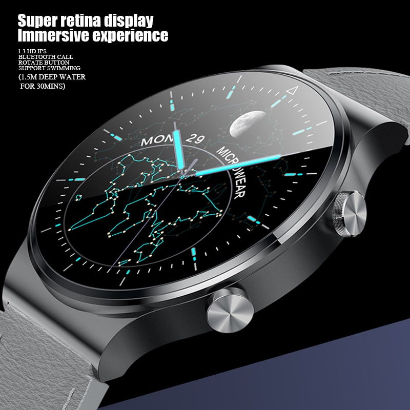 M2 بلوتوث دعوة الرجال ساعة ذكية IP68 مقاوم للماء شحن لاسلكي معدل ضربات القلب الصحة الرياضة Smartwatch PK هواوي GT2 برو شاومي