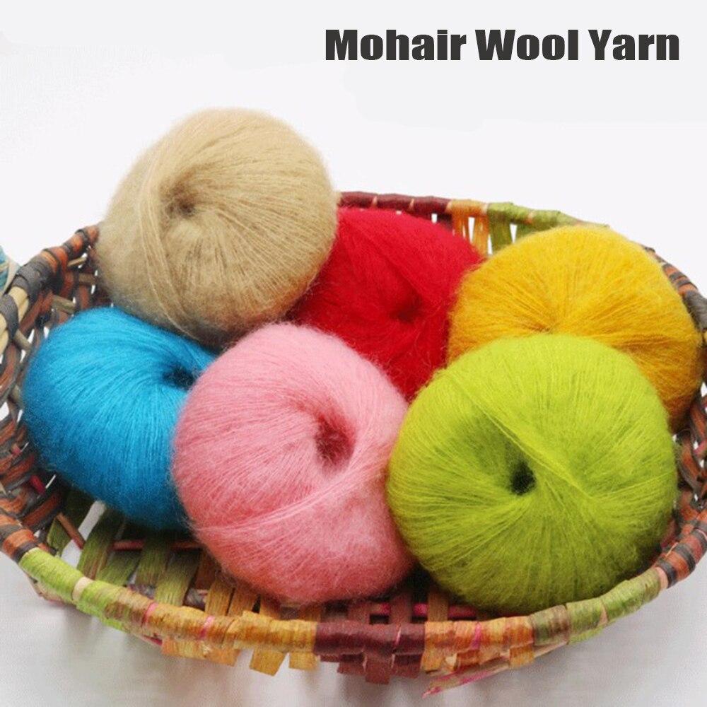 Mohair fio de lã costura tricô thread para camisola roupas para bebê crochê mão tricô camisola meias