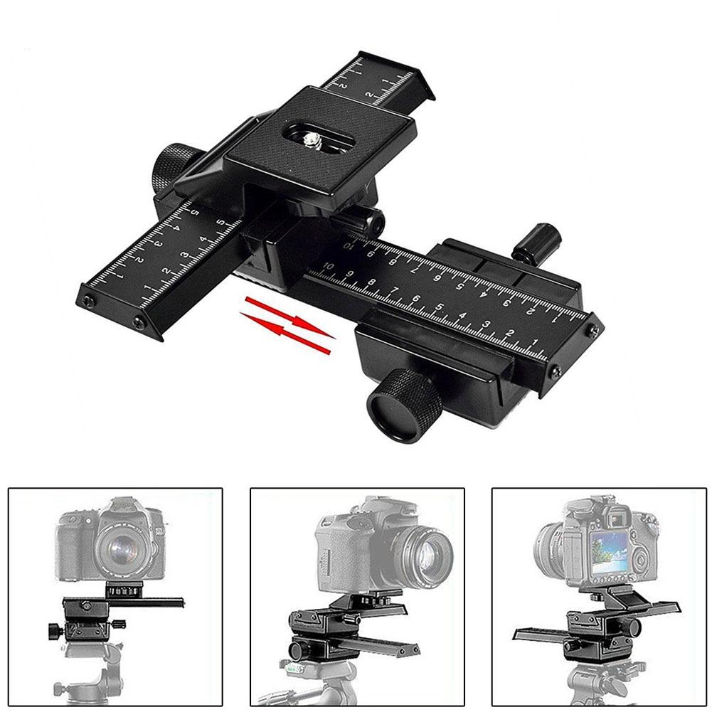 Deslizador de riel de enfoque Macro de 4 vías con tornillo ajustable Macroshot fotografía para Canon Sony Pentax Nikon Cámara LFX-ING