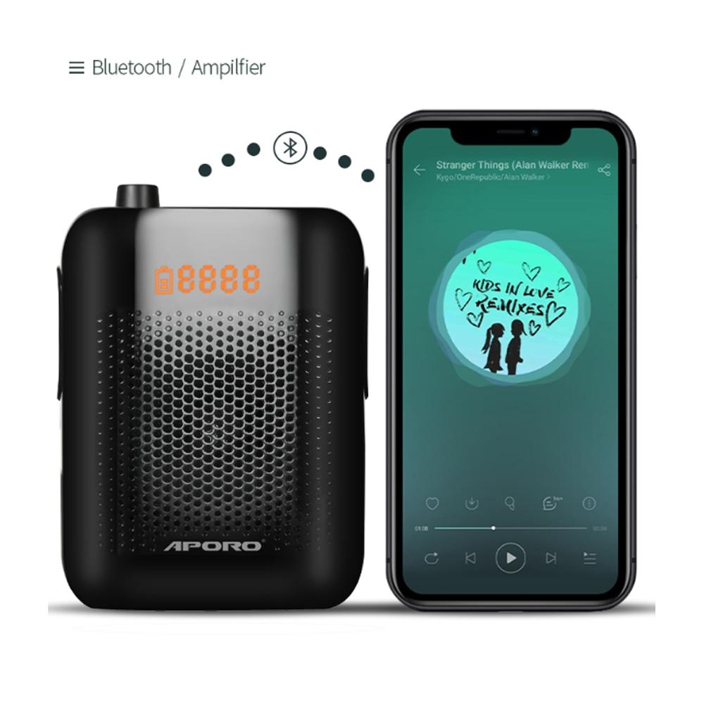 Amplificador Voz Bluetooth con micrófono inalámbrico UHF, para Profesor, megáfono portátil para...