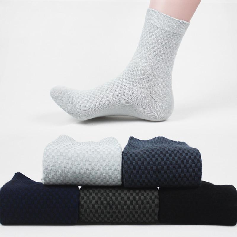 Мужские однотонные короткие носки, мужские удобные высококачественные дышащие мужские носки из бамбукового волокна, впитывающие пот