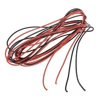 lber 2x 18 gauge awg silicone rubber wire cable red black flexible