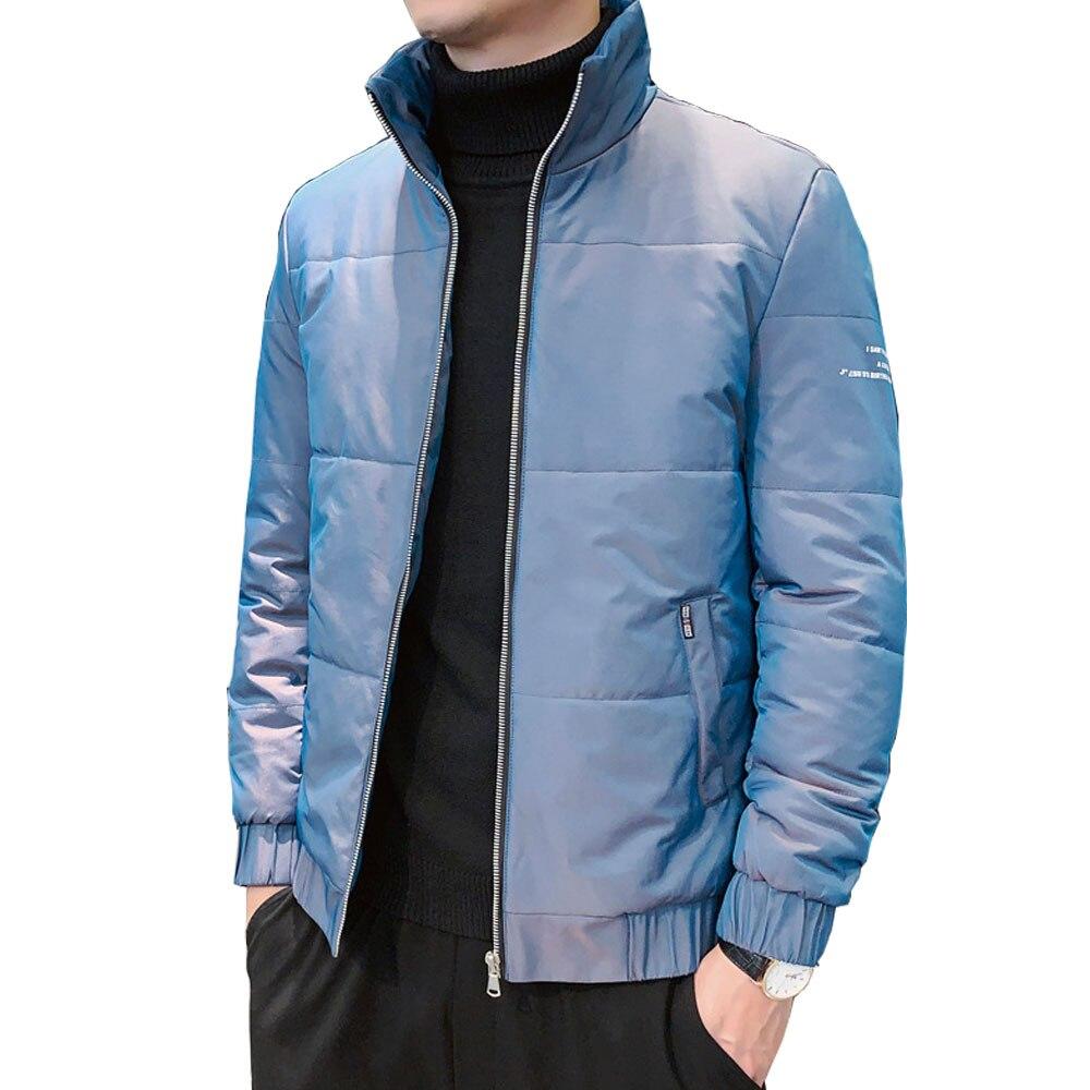 Casual invierno para Hombre Parka Abrigo sólido negro tamaño grande 5XL Regular...