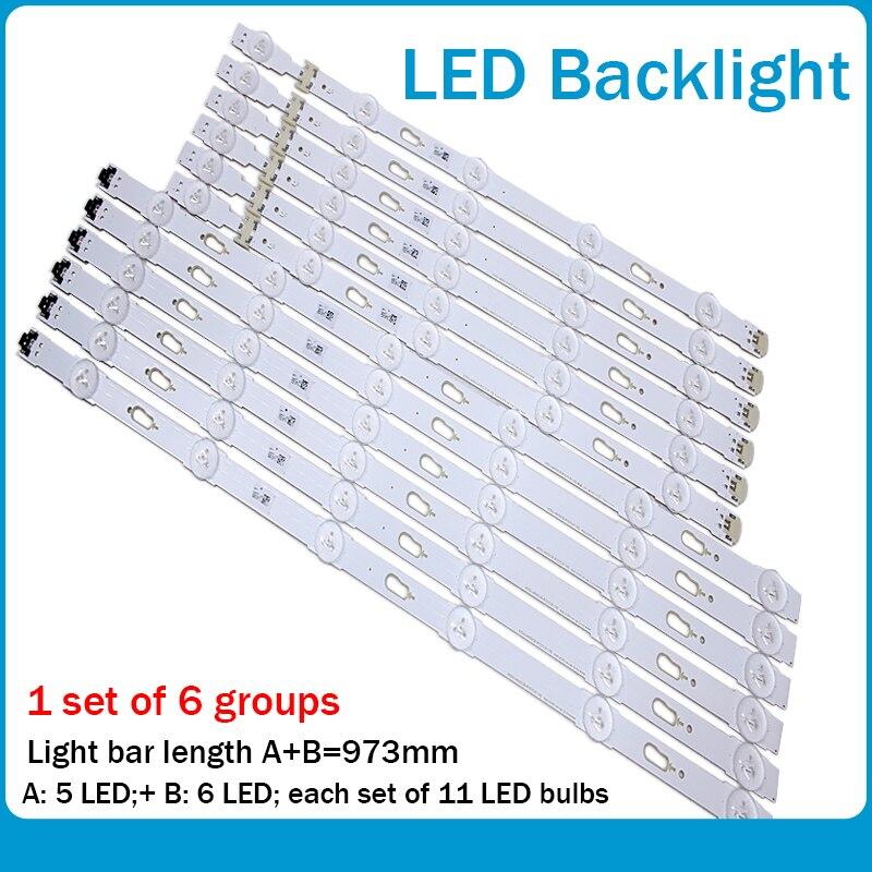 Nuevo kit de 12 piezas LED de retroiluminación para Samsung UE48JU6060 V5DU-480DCA-R1 V5DU-480DCB-R1 BN96-34793A BN96-34794A UE48JU