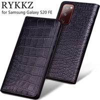 luxury genuine flip leather case for samsung galaxy s20 fe flip cover handmake leather cases for galaxy s20 plus ultra case