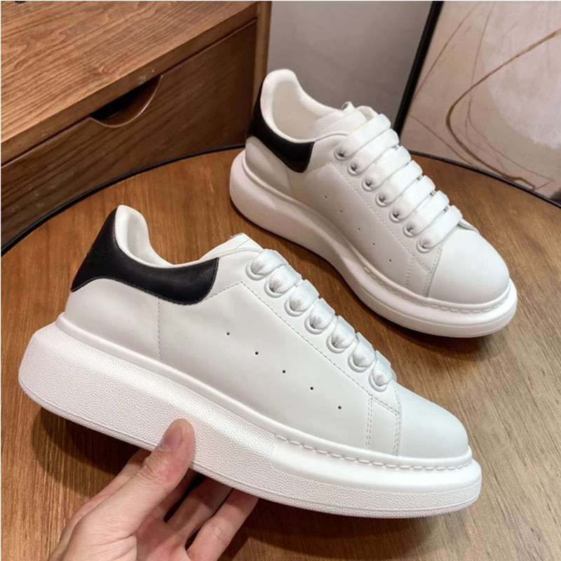 NEW 2021 Luxury Mcqueen Shoes for Women Brand Design Alexander White Chunky Sneakers Female Vulcanize Sport Shoe Plus Size 34-44