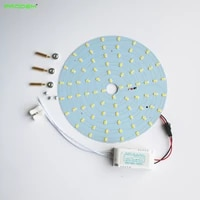 wholesales prodem 10pack diy kit 2300lm 20w round led ceiling light disc led techo led circular tube50w 2d tube surface mounted