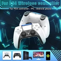 bluetooth wireless game controller for ps4 console 6 axis double vibration game gamepad for pc android phone joysticks gamepad
