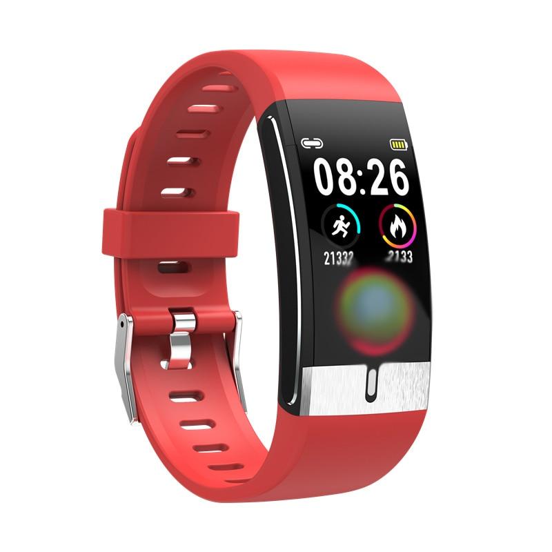 Temperatura do Corpo Rastreador de Fitness Monitor de Freqüência Frompro Pulseira Inteligente Cardíaca al Diagnóstico Médico Relógio vs t1 E66 Ecg Ppg
