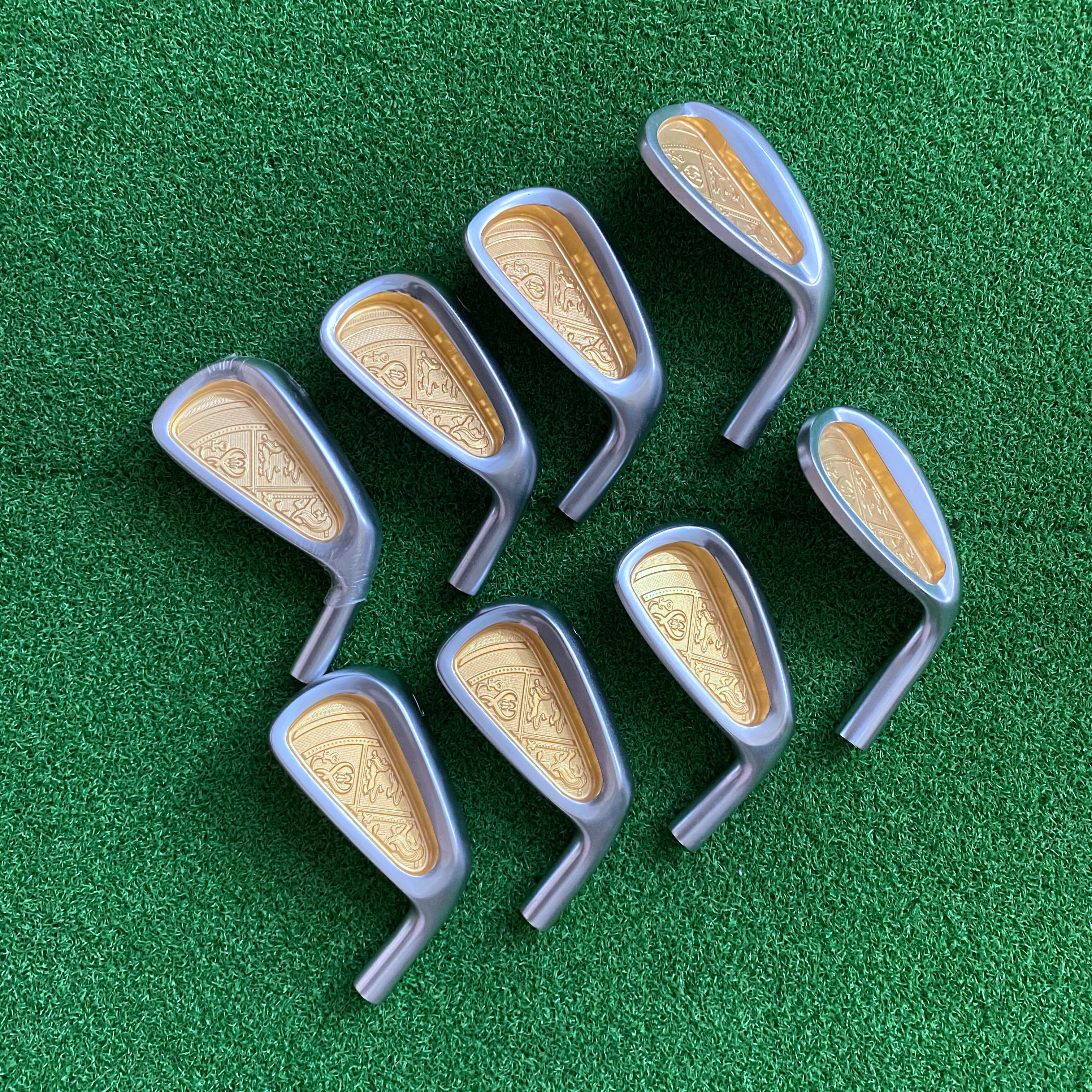 Golf Clubs Irons Head Only 5-s 8 Pcs No Shaft Free Shipping Soft Iron Teardrop Men