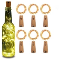 christmas wine bottle lights 20 led navidad cork string light copper wire fairy light for holiday christmas party wedding decor