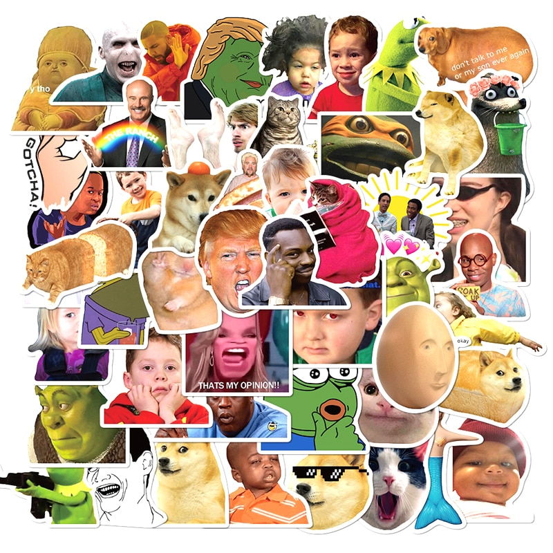 10/30/50pcs/pack Funny Meme Graffiti Stickers Flakes For Cars Motorcycles  Furniture Children's toys Luggage Skateboards Lable