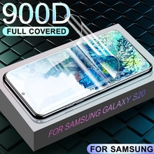 1-3 uds 900D de película de hidrogel para samsung Galaxy Nota 10 Pro S20 Ultra S8 S9 S10 PLus E pantalla completa de la cubierta Protector no de vidrio