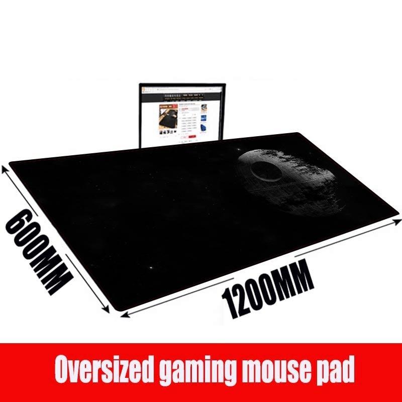 MRGBEST Звездные войны, Настраиваемые размеры, 1200x600x3мм, аниме, большой коврик для мыши, Игровая клавиатура, коврик для мыши с замком, край стола, ...