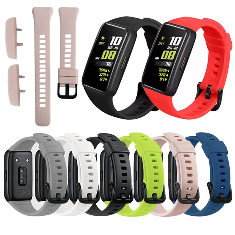 Replacement Sport Silicone Watch Band Wrist Strap Adjustable Watchbands for Huawei band 6 honor band 6 Watch new replacement sport silicone for huawei band 6 watch band wrist strap adjustable watchband for huawei honor band 6 smart watch