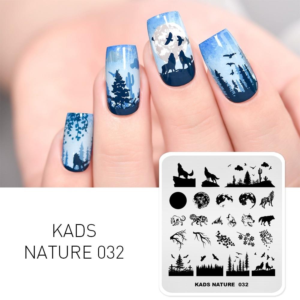 AliExpress - KADS New Nail Template Nature Nail Art Stamping Plates Fashion Stainless Steel Stamping Nail Art Image Stamping Plate Stencil
