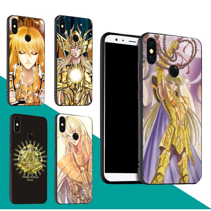 Funda Virgo Shaka Saint Seiya para Xiaomi Redmi Note 9 S 8T 7 8 9 K30 Pro 7A 8A Mi A3 Max3 Mix3 9T 9 SE 10 Lite