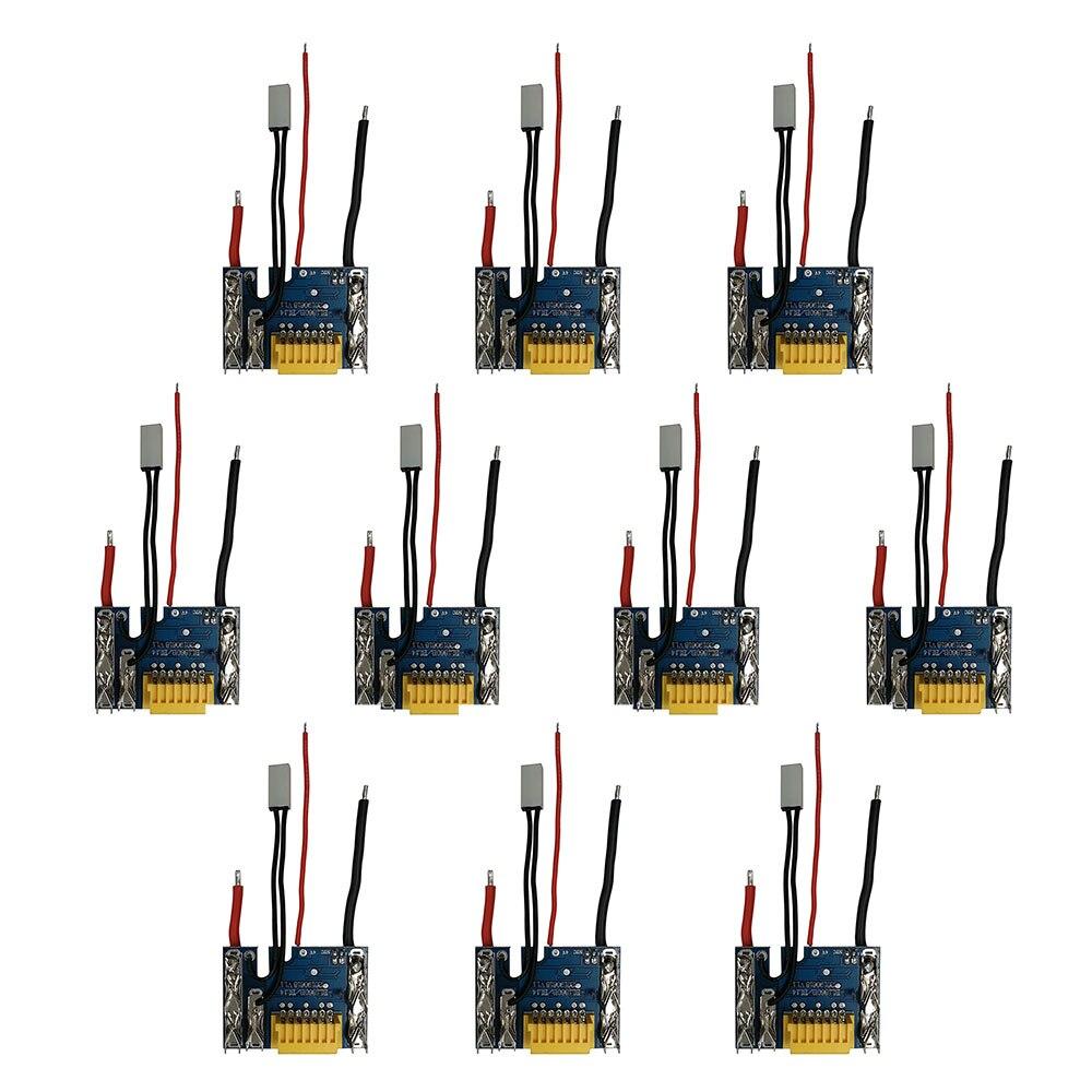 لوحة دوائر كهربائية ماكيتا, 10 قطع ، لبطارية ليثيوم أيون ، 18 فولت ، 1.5 أمبير ، 3 أمبير ، 6 أمبير ، 9 أمبير ، BL1815 ، BL1860 ، BL1890