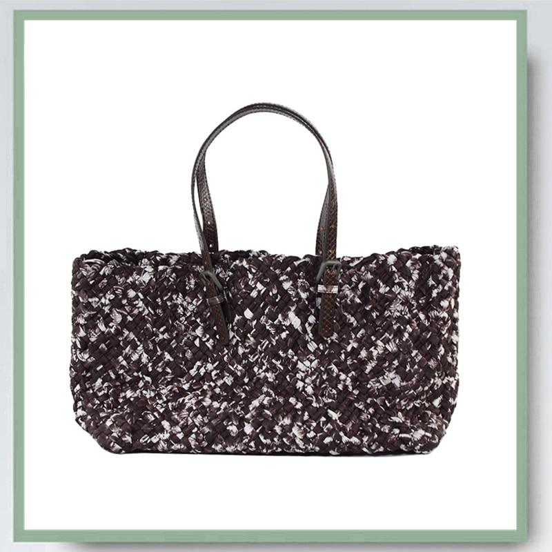 حقائب يد نسائية عالية الجودة ، حقيبة مركبة 100% من جلد الغنم ، تصميم فاخر ، حزام كتف من جلد الثعبان ، أزياء نسائية