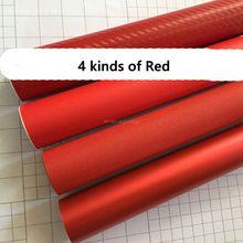 100cm * 50cm rojo coche cuerpo película vinilo envoltura pegatina etiqueta aire burbuja gratis