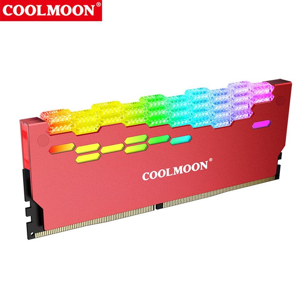 COOLMOON Ram المبرد 5 فولت ARGB 3 دبوس 4 دبوس الذاكرة مسرب حراري من الألومنيوم سبيكة RA-2 رام برودة ل حاسوب شخصي مكتبي ملحقات الكمبيوتر