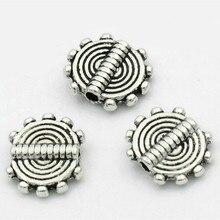 DoreenBeads zink-legierung Spacer Perlen Runde Antike Silber Farbe Spirale DIY Schmuck Geschenke Über 10mmx 8,5mm, Loch ca. 1mm, 20 PCs