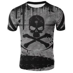 3D T-shirt Men's Motorcycle Punk 3D Printing T-shirt Men's T-shirt Summer Top Men's Fashion T