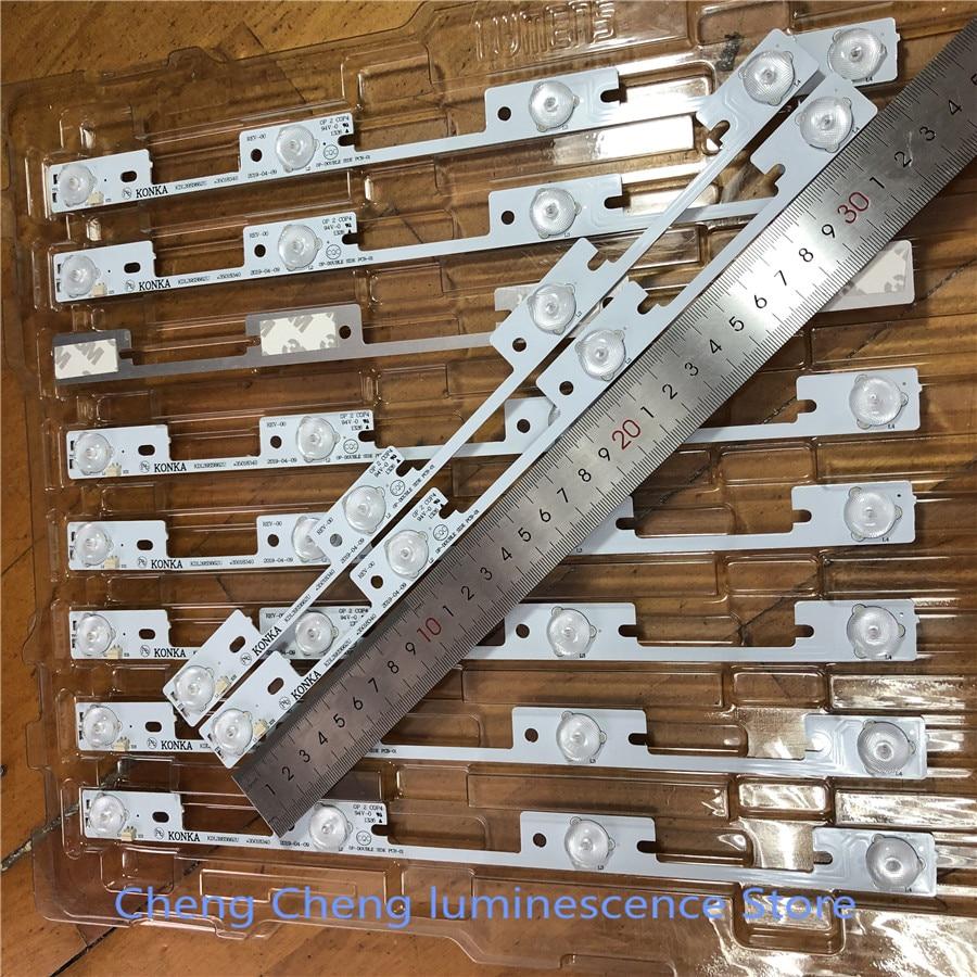 10 peças 4 leds * 6 v barra de retroiluminação led para konka 39 polegadas tv kdl39ss662u 35018339 konka 40 polegadas kdl40ss662u 35019864 327