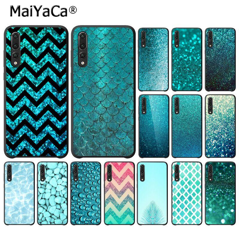 MaiYaCa Prata Do Aqua Mint Verde Glitter Bling Faísca PhoneCase para Huawei P10 P20 LIte Mate20 Mate10Lite P20Pro Honor10 9Lite 8X