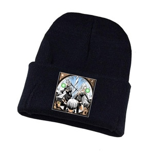 Anime Nier:automata Knitted Hat Cosplay Hat Unisex Print Adult Casual Cotton Hat Teenagers Winter Knitted Cap
