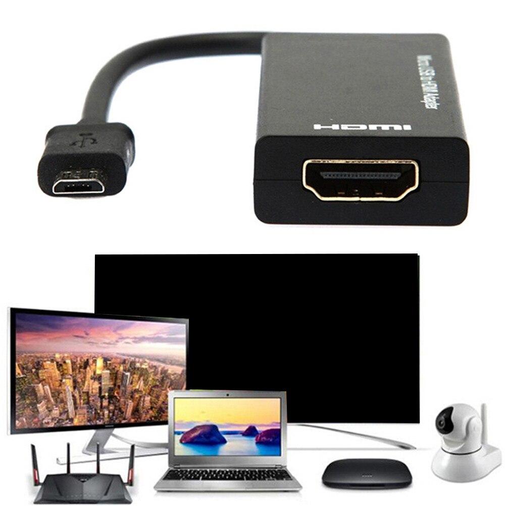 Micro USB a HDMI HD cable de adaptador macho a hembra 1080 P HD HDMI Cable de Video Audio MHL Convertidor para TV PC portátil