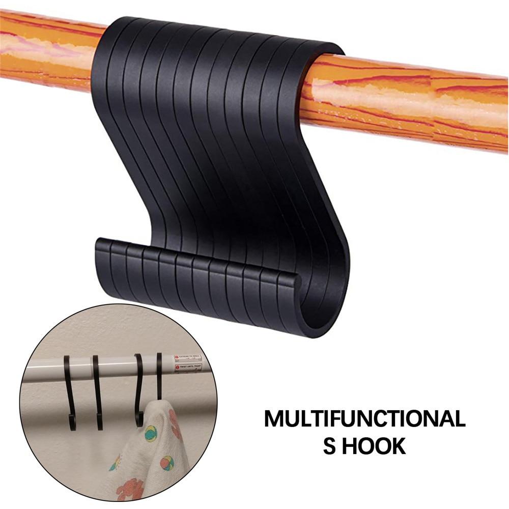 12 PCS Space Aluminuml Practical Hooks S Shape Kitchen Railing S Hanger Hook Clasp Holder Hooks For Hanging Clothes Handbag Hook cs 12 24 in s hook s hook not include pot