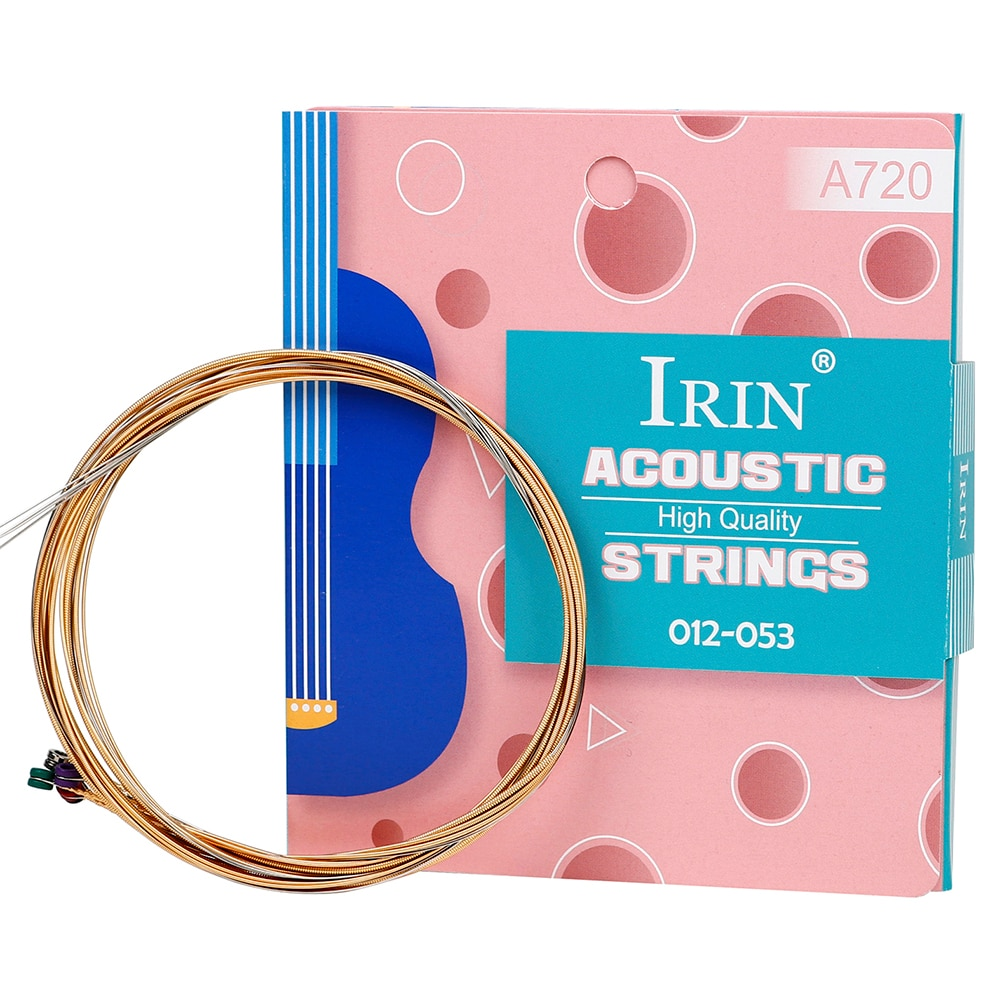 Superior Quality 6pcs/Set Universal Acoustic Guitar String Brass Hexagonal Steel Core Strings For Musical Instrument Guitar Part
