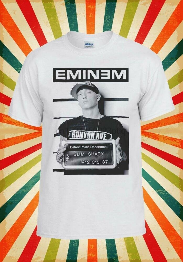 Eminem Slim Shady Rap, divertido chaleco divertido para hombres y mujeres, camiseta sin mangas, camiseta Unisex 2139