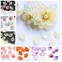 10pcs petal shape 19x13mm lampwork crystal glass loose pendants beads for jewelry making diy crafts findings