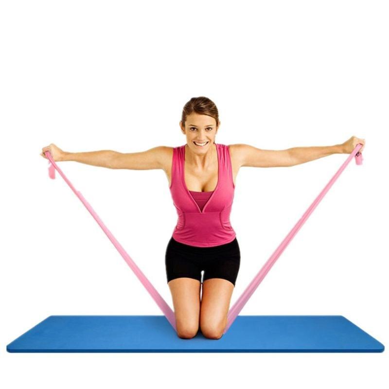 Bandas elásticas de resistencia para entrenamiento Fitness, 5 colores, bandas de goma para Pilates, lazos de látex para Yoga, bandas elásticas para ejercicios