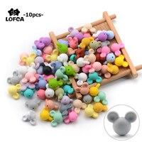 LOFCA 10 шт./лот силиконовые шарики для мыши, детские игрушки для прорезывания зубов, мягкие шарики для прорезывания зубов без БФА, DIY Очаровател...