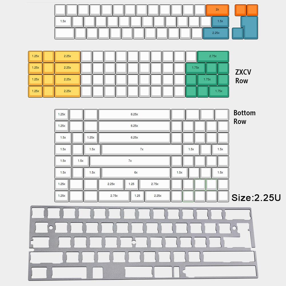 Posicionamiento de PVD Universal periféricos de ordenador estabilizador mecánico dividido DIY sólidos para GH60 60 por ciento teclado