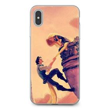 Durable Silicone Phone Case For Sony Xperia Z5 XZ XA1 XA2 Premium ULTRA 10 X L2 Tangled Flynn and Rapunzel Pattern