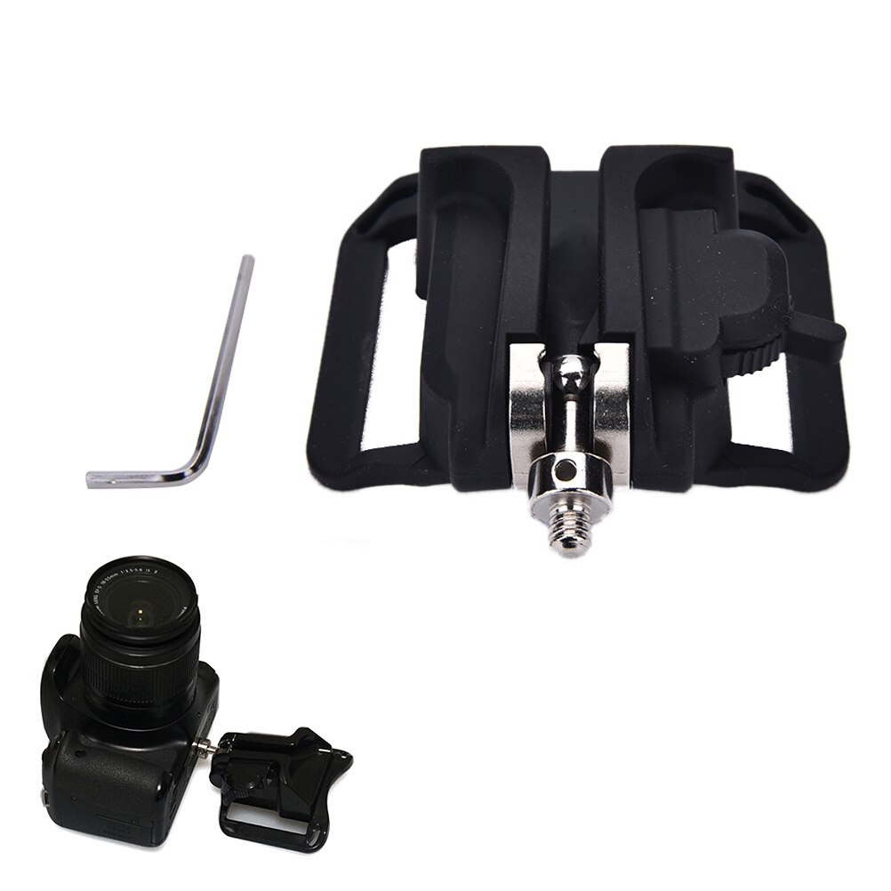 "JETTING New 1/4"" Screw Camera Waist Spider Belt Holster Quick Strap Buckle Dull Polished Surface for DSLR Digital SLR Camera"