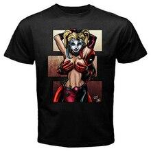 Deadpool Is No Joke Harley Quinn - Custom Men'S Black T-Shirt Tee Printing Tee Shirt