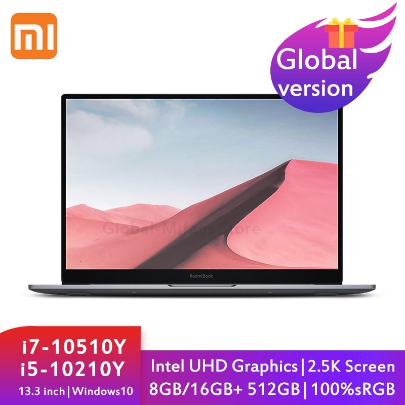 Get Xiaomi Redmibook Air 13 Laptop 13.3 inch i7-10510Y i5-10210Y 8G/16G+512G Intel UHD Full Mental Ultraslim 2.5K 100%sRGB Notebook